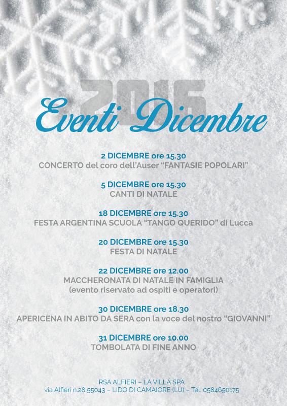 RSA ALFIERI: Eventi di Dicembre 2016