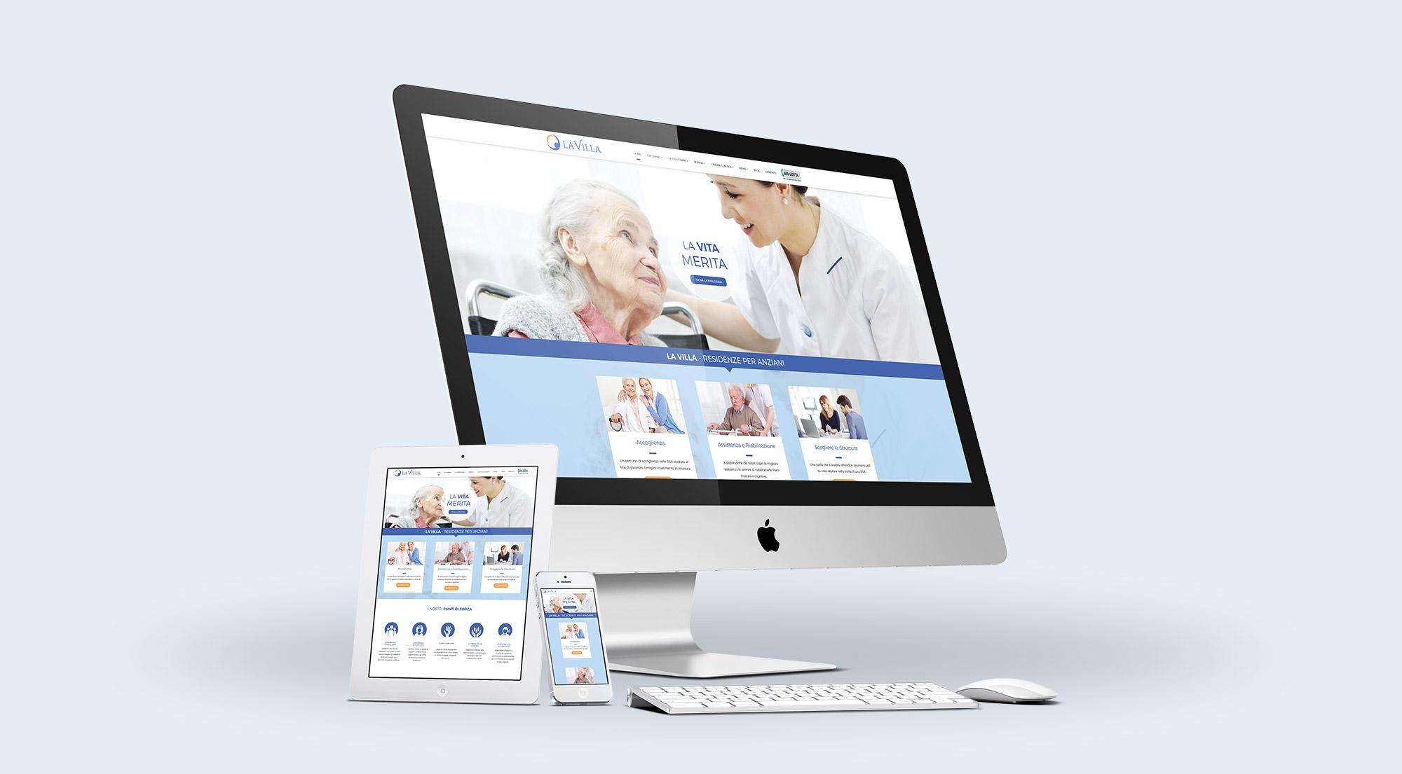 La Villa: al via un restyling dell'immagine aziendale e un nuovo sito web.  La persona, al centro di tutto.