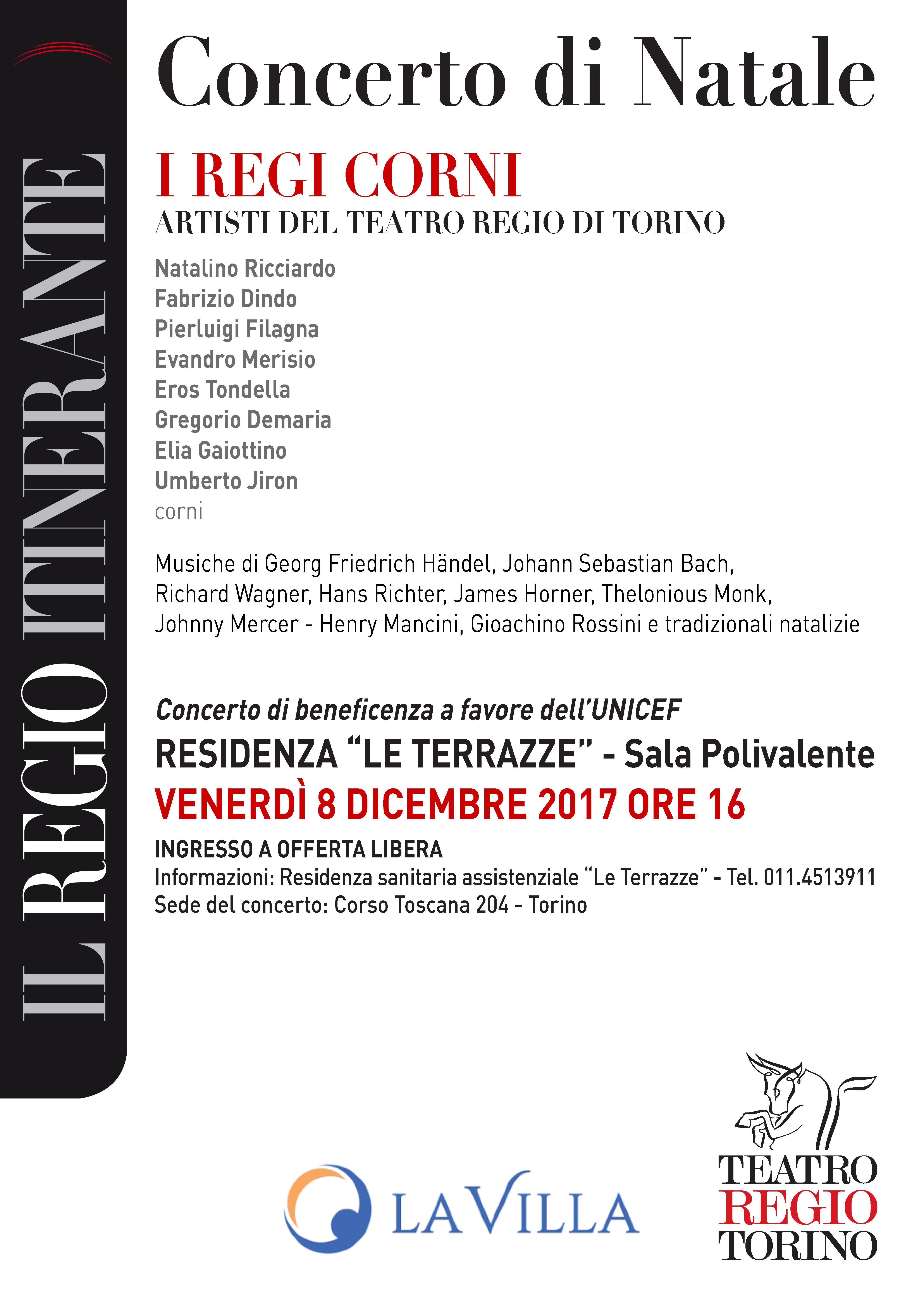 Concerto di Natale – I REGI CORNI  – ARTISTI DEL TEATRO REGIO DI TORINO