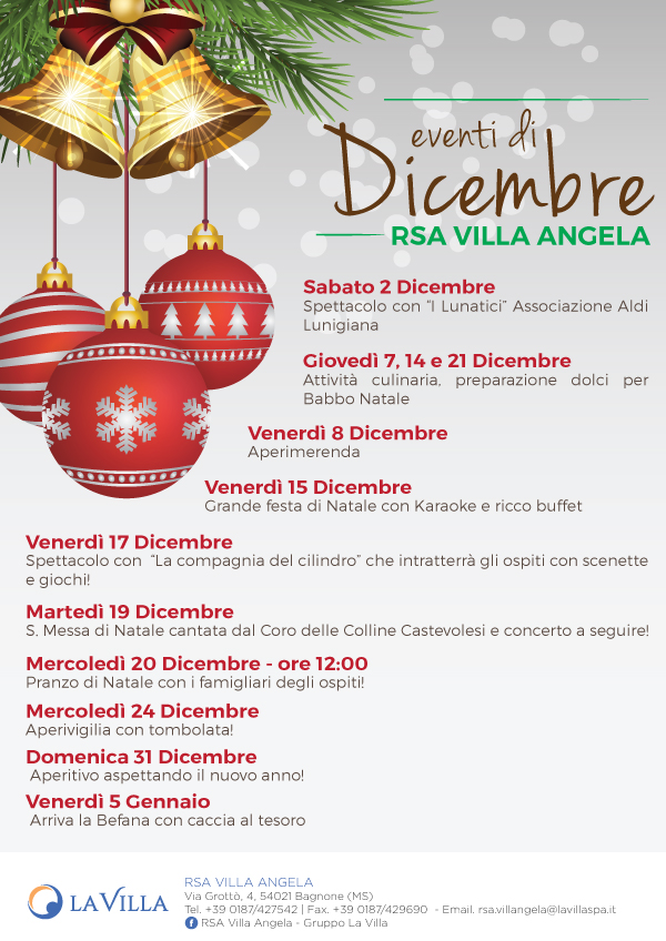 RSA VILLA ANGELA – Gli eventi di Dicembre