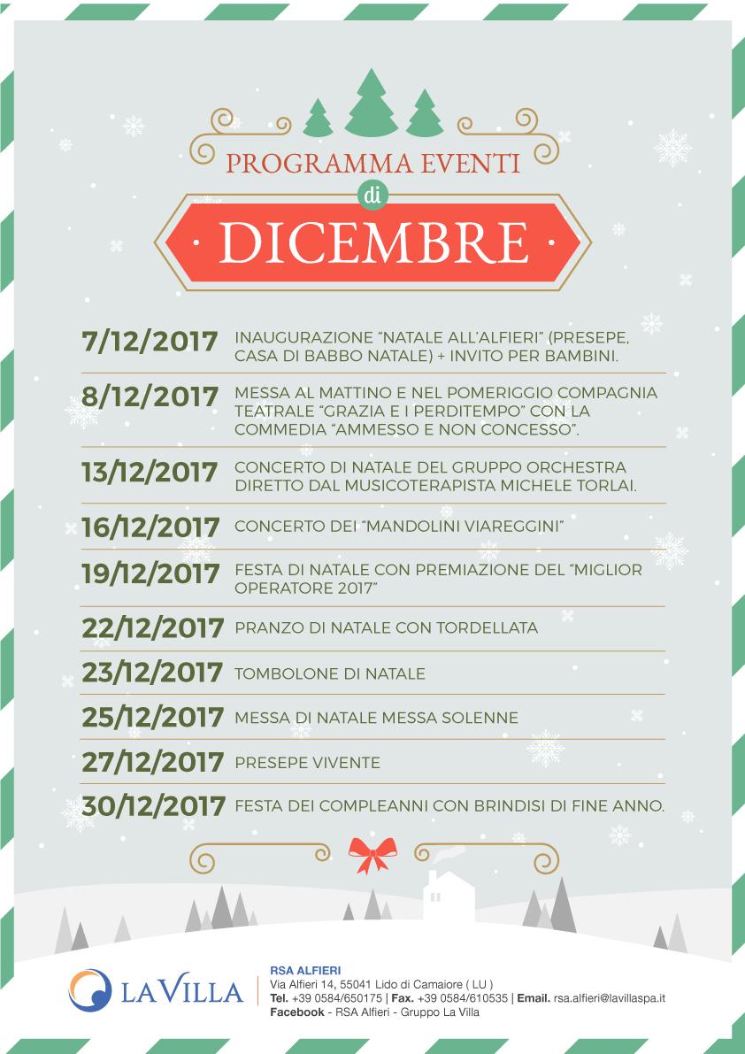 Un Dicembre in festa per L' RSA Alfieri