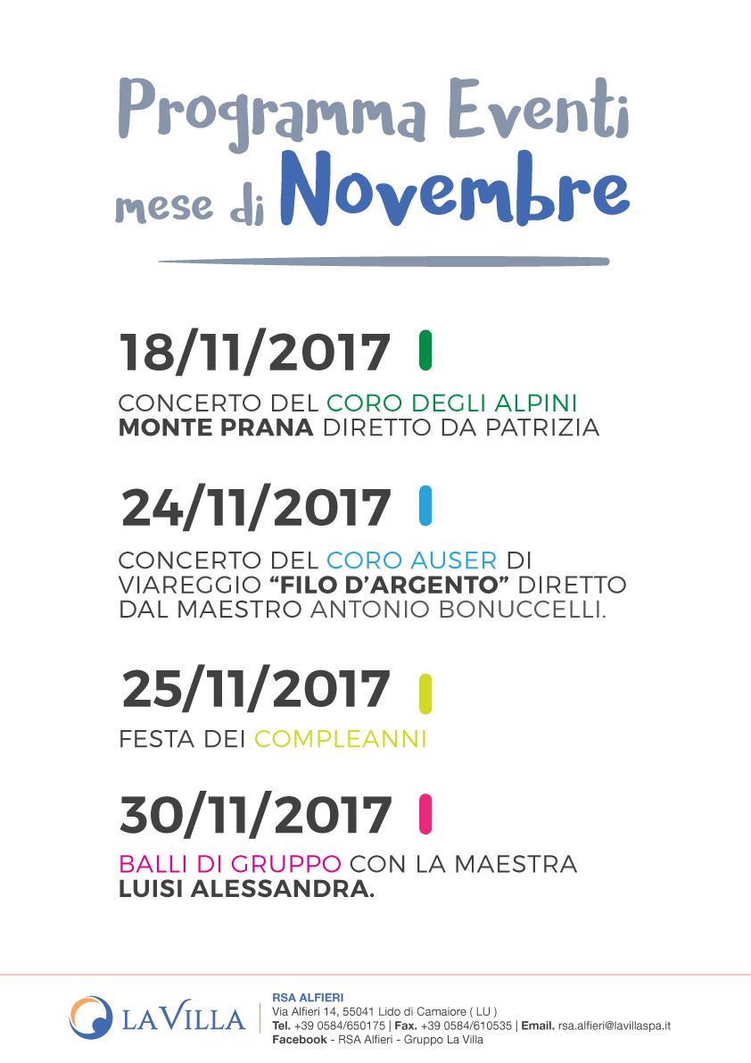 Un Novembre pieno di attività all'RSA Alfieri