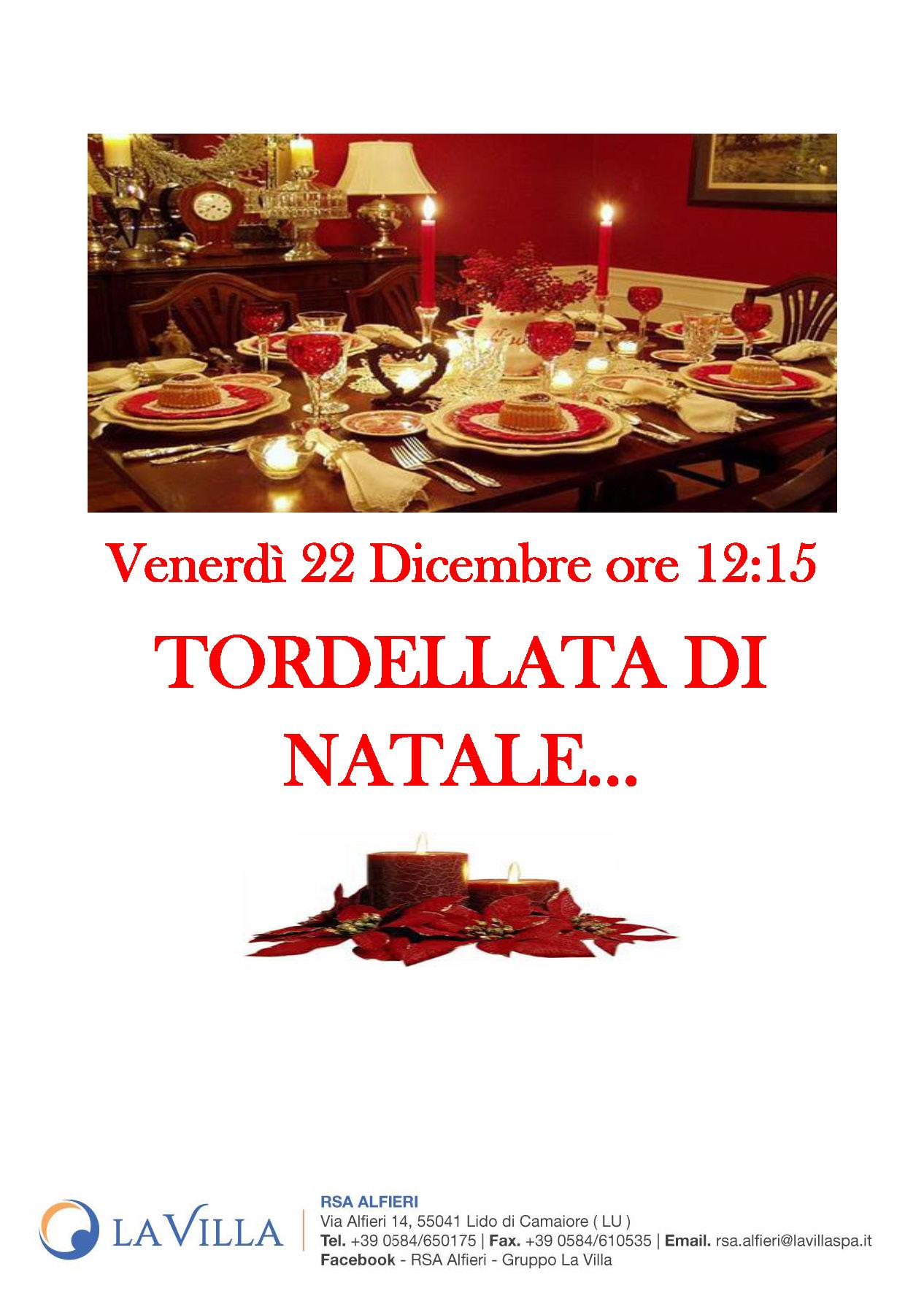 TORDELLATA DI NATALE All'Alfieri