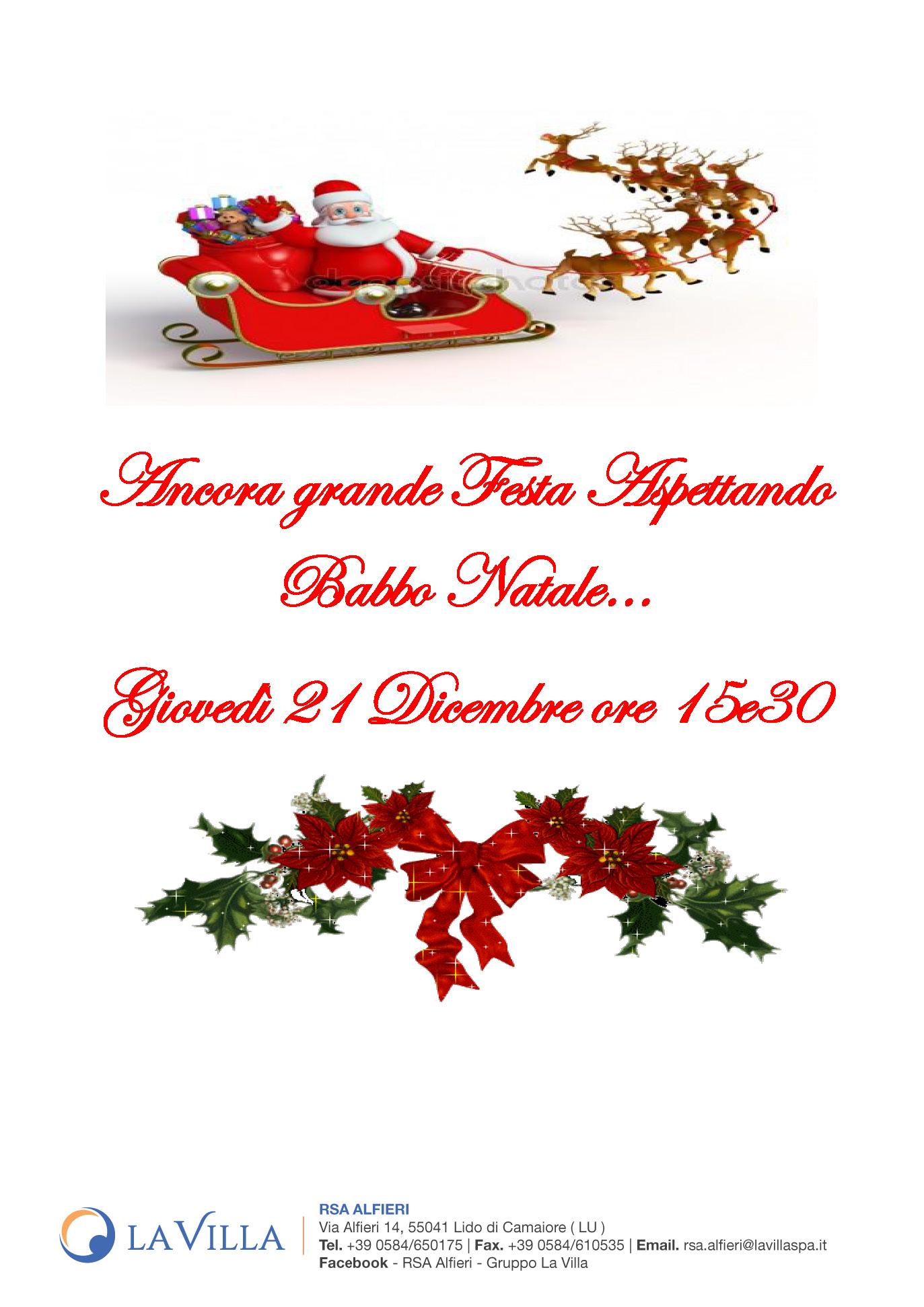 Ancora grande Festa Aspettando Babbo Natale…