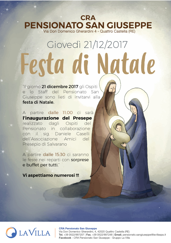Festa di Natale al Pensionato San Giuseppe