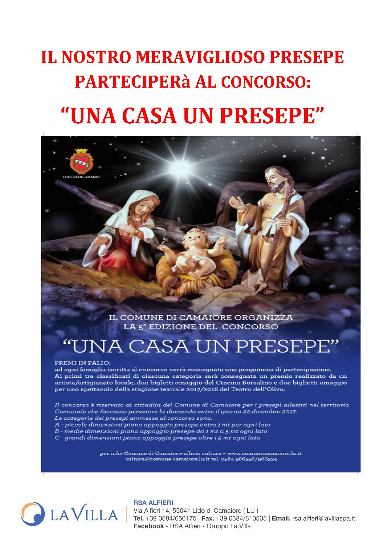 """UNA CASA UN PRESEPE"" – RSA Alfieri Candidata al Concorso"