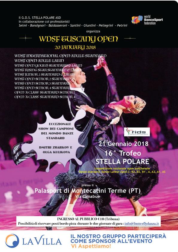"""Gruppo La Villa sponsor alla competizione nazionale di ballo """" Tuscany Open & Trofeo Stella Polare"""""""