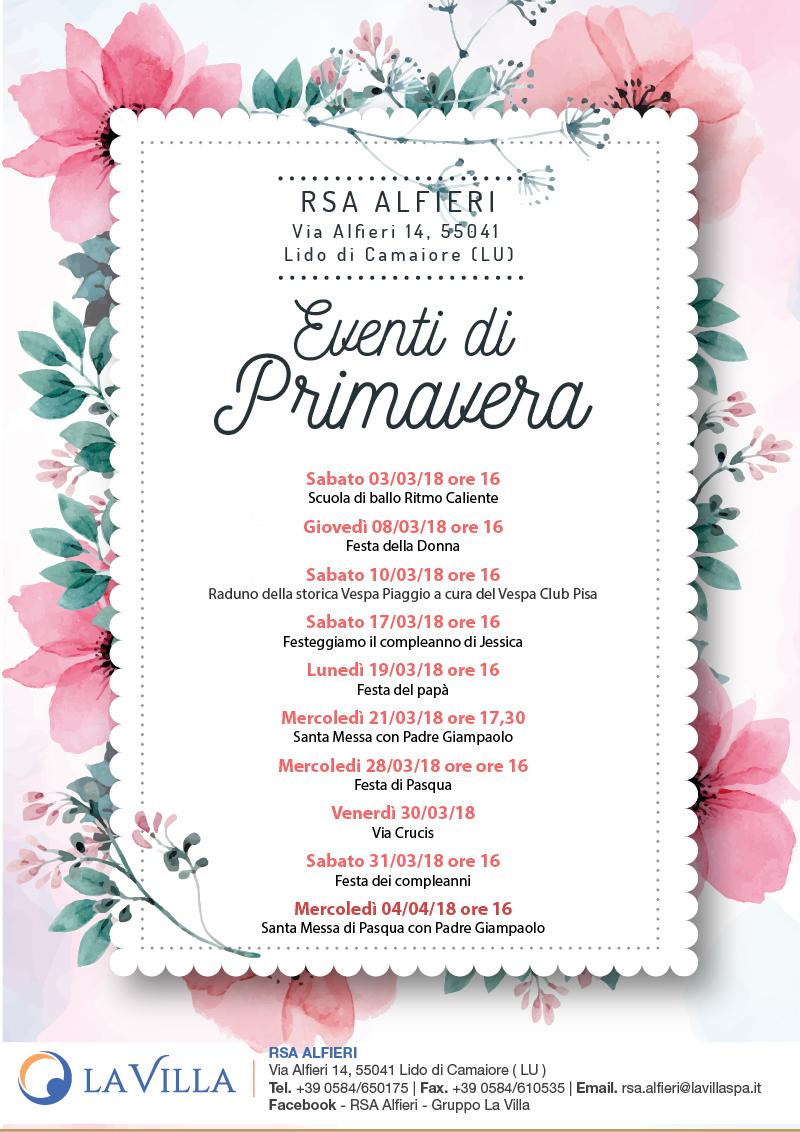 Gli Eventi di Primavera all'Alfieri