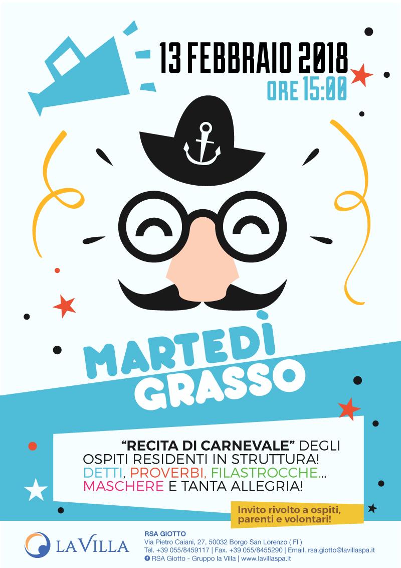 Festeggia il Martedì Grasso alla Giotto!