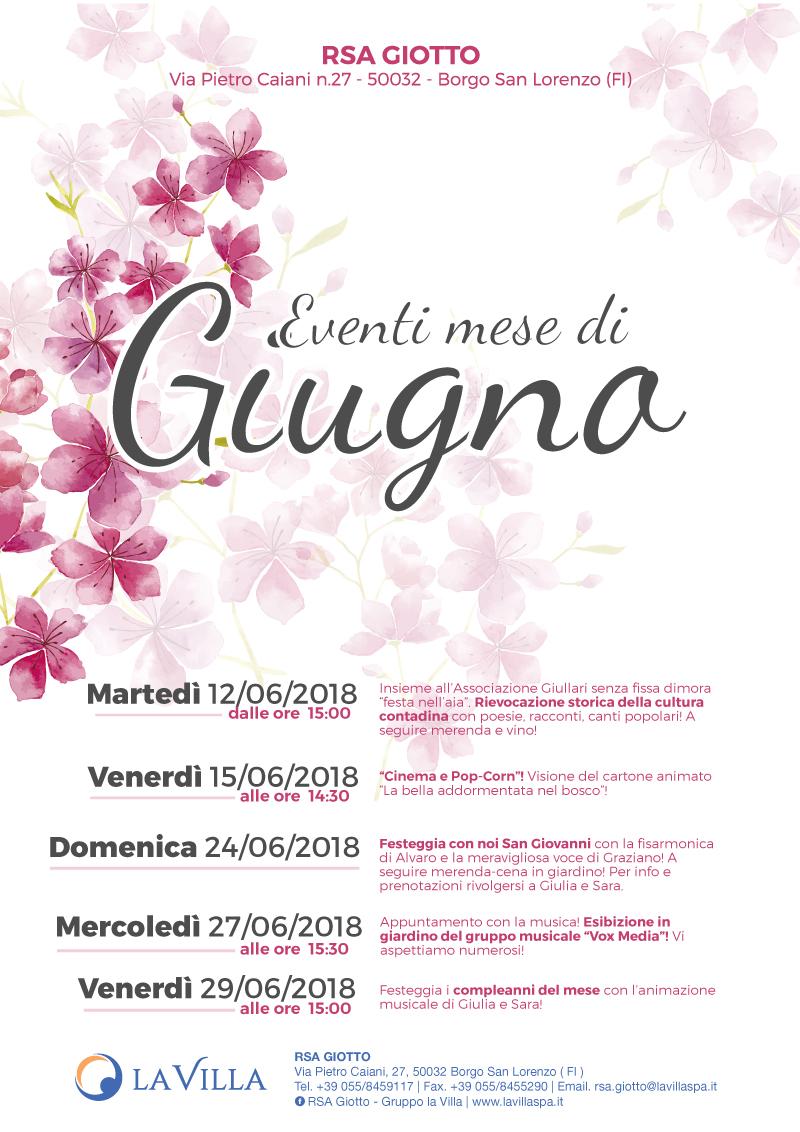 RSA Giotto – Gli eventi di Giugno