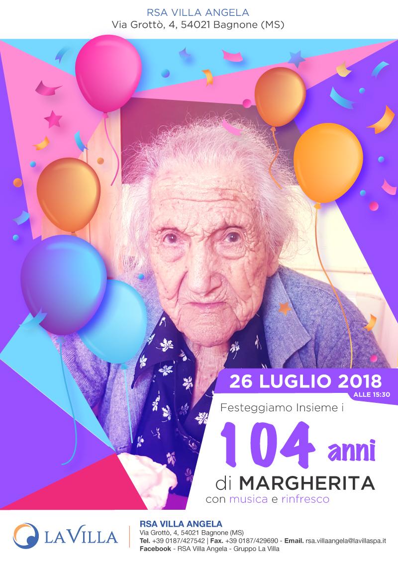Festa di compleanno per i 104 anni di Margherita