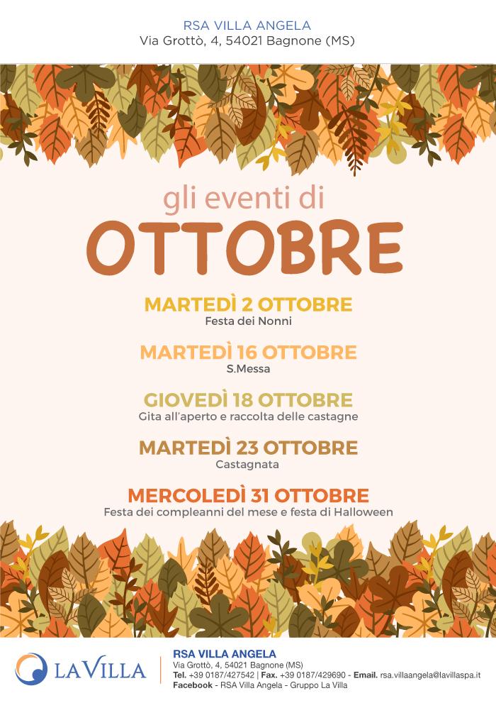 Gli eventi di Ottobre all'RSA Villa Angela