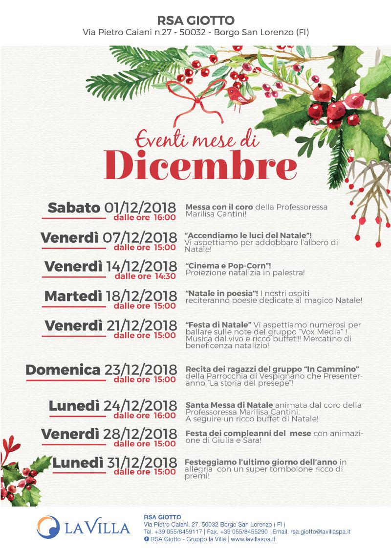 RSA Giotto – Gli eventi del mese di Novembre