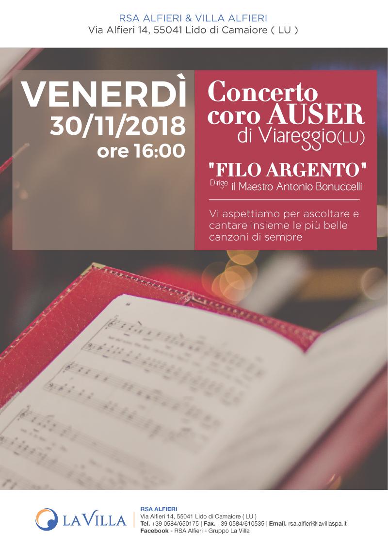 Concerto coro AUSER – Nuovo Appuntamento