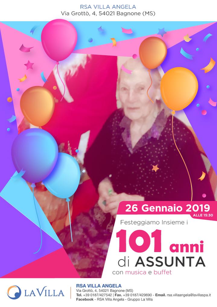 Festeggiamo insieme i 101 anni di Assunta!