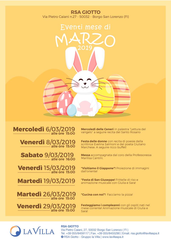 Gli eventi di Marzo alla Giotto