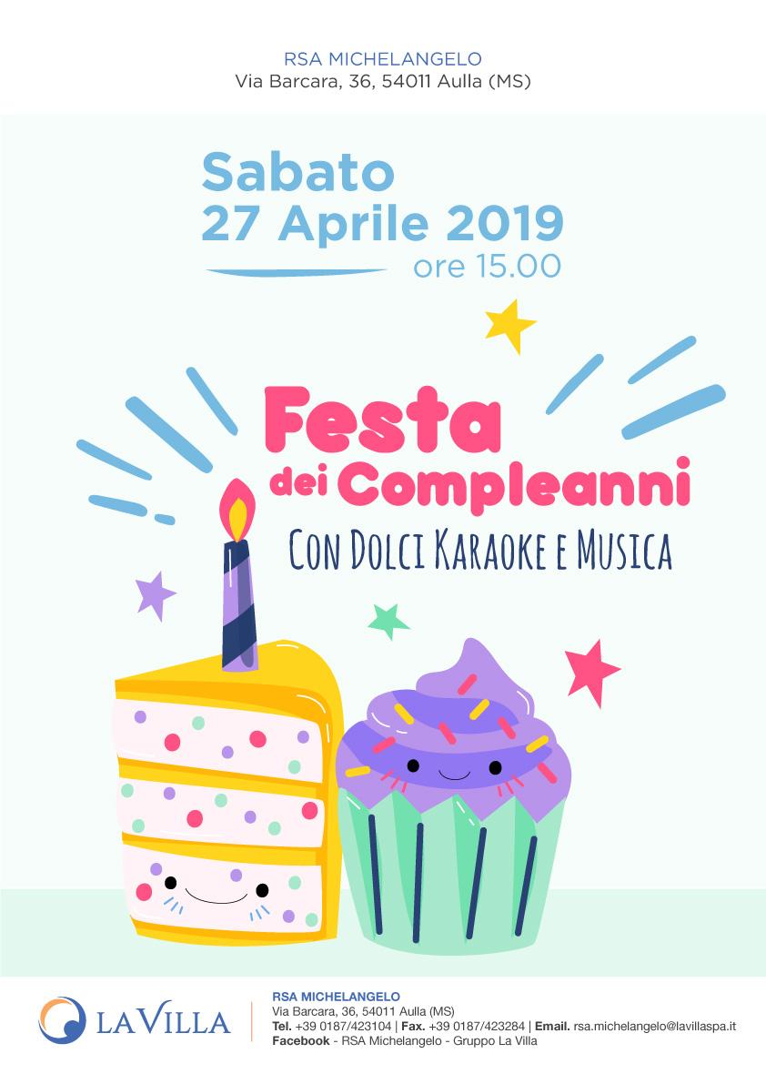 RSA MICHELANGELO: FESTA DEI COMPLEANNI