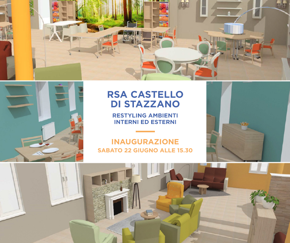 RSA Castello di Stazzano: appuntamento al 22 giugno per l'inaugurazione dopo i lavori di restyling