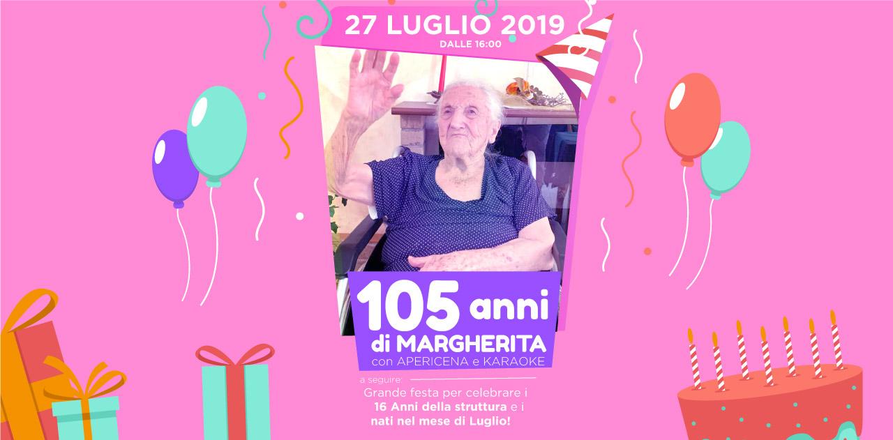 Rsa Villa Angela: Festa per 105 anni della nostra ospite Margherita