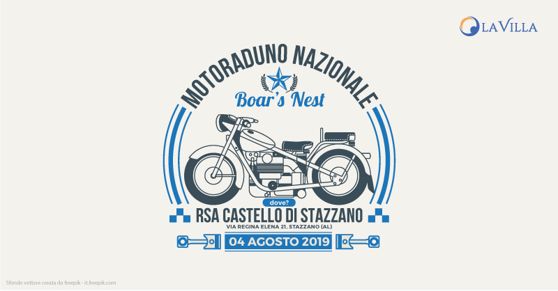 Rsa Castello di Stazzano: la partnership con il 6° Motoraduno Nazionale Boar's Nest
