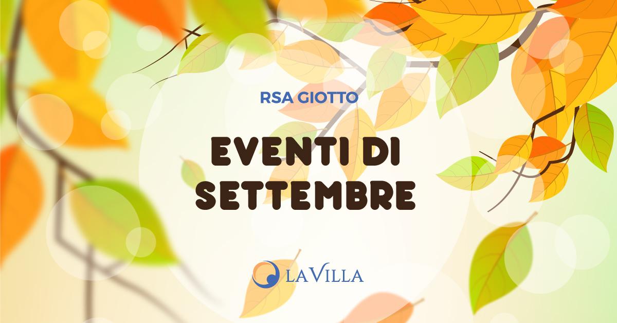 Rsa Giotto: gli eventi di settembre 2019