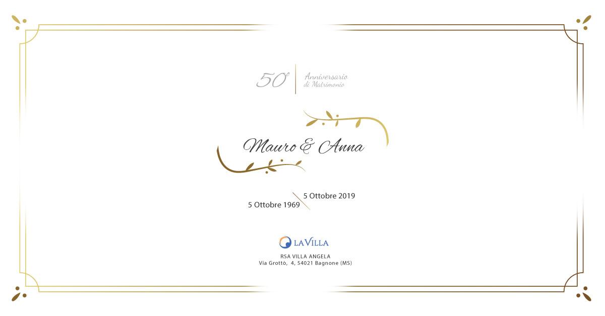 Nozze d'Oro di Anna e Mauro: grande festa a Rsa Villa Angela