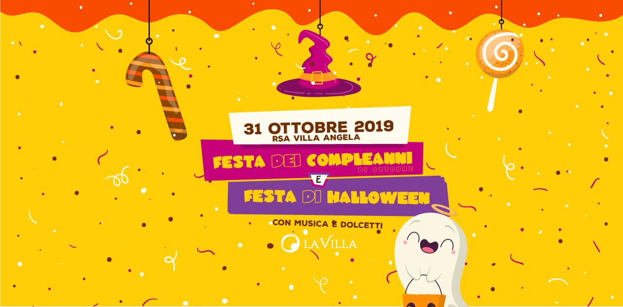 Festa di Halloween e dei Compleanni presso Rsa Villa Angela