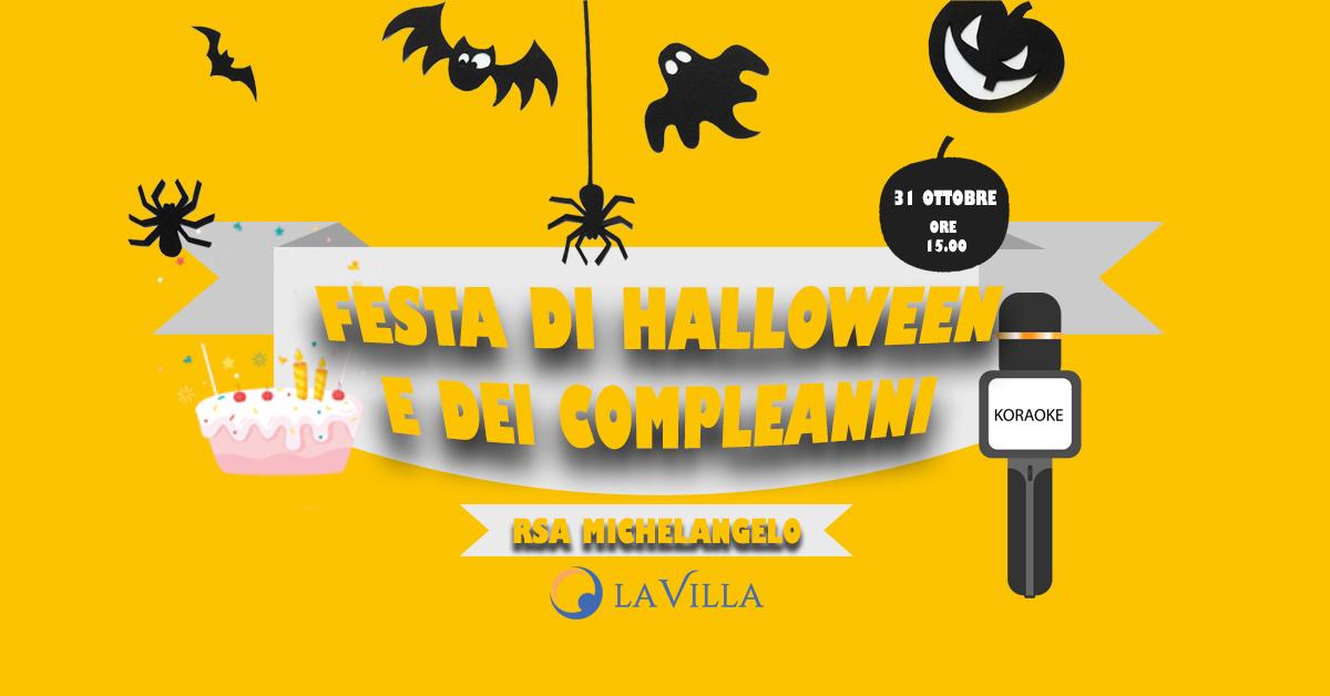 Festa di Halloween e Compleanni del mese presso Rsa Michelangelo