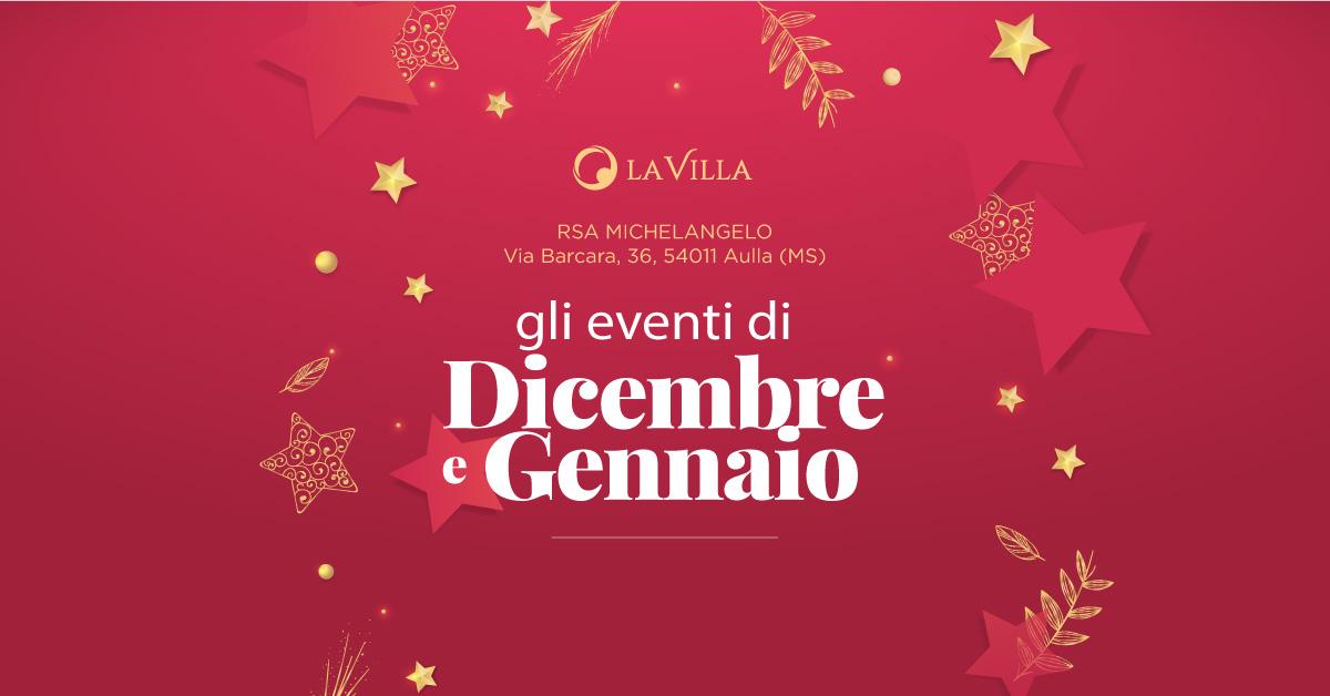 Rsa Michelangelo: gli eventi di dicembre e gennaio