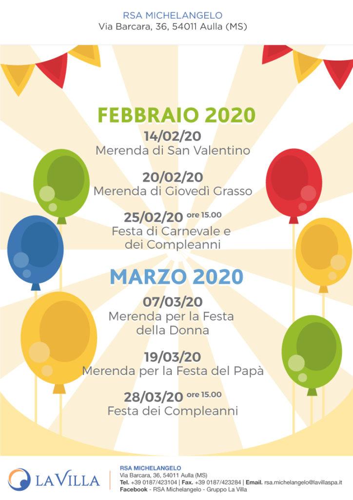 eventi febbraio e marzo