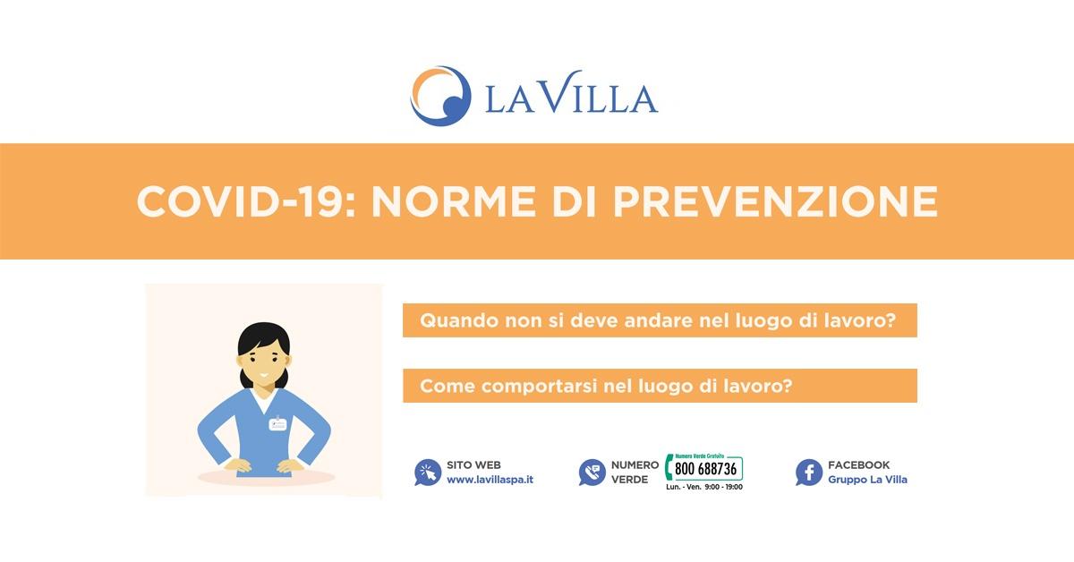 Gruppo La Villa: Sicurezza contro il Coronavirus nei luoghi di lavoro