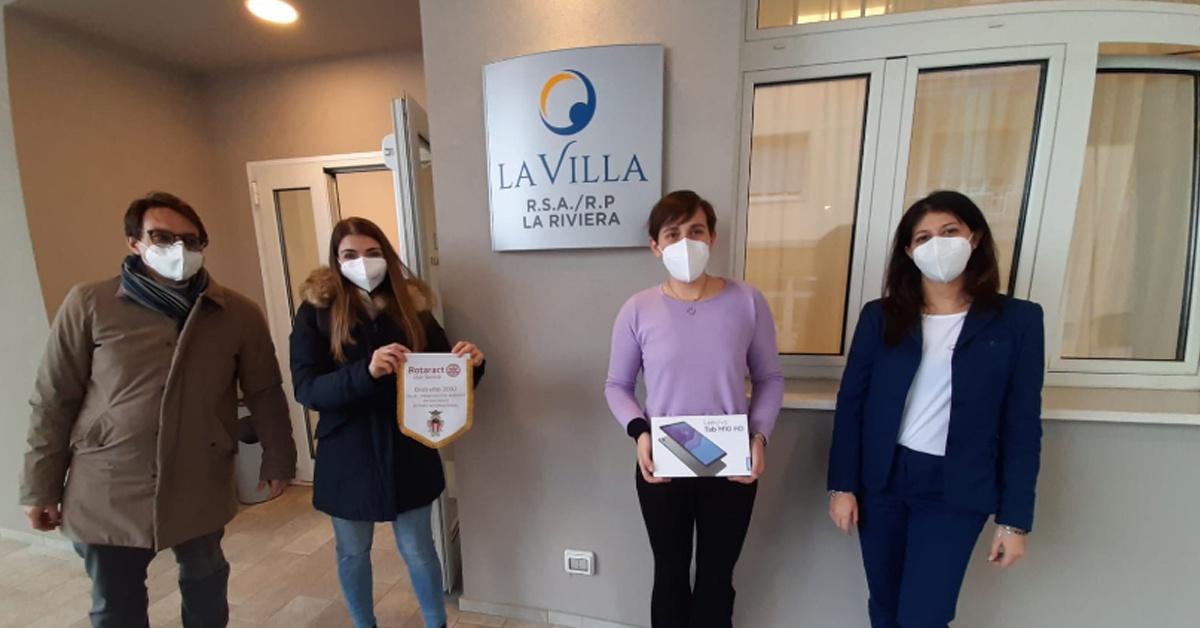 La donazione del Rotary Club di Savona per gli Ospiti di Rsa/Rp La Riviera