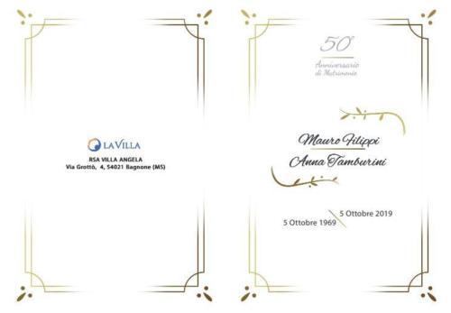 Invito Nozze d'Oro Anna e Mauro  presso Rsa Villa Angela