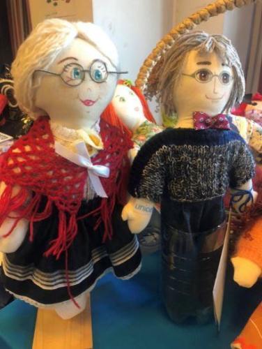 Pigotta, bambola realizzata amano